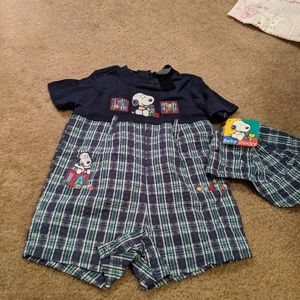 Baby Snoopy boys outfit with matching hat